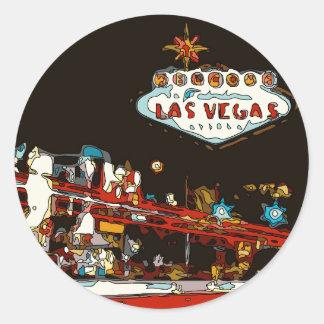 ¡Dé la bienvenida a Las Vegas al bebé! Etiquetas Redondas