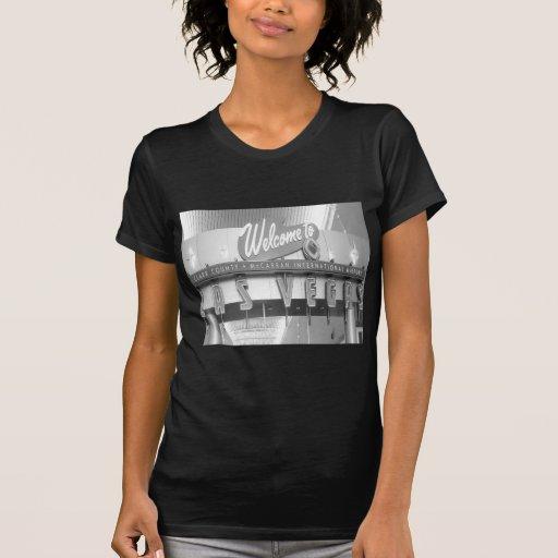 Dé la bienvenida a Las Vegas al vintage Camiseta