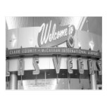 Dé la bienvenida a Las Vegas al vintage Postal