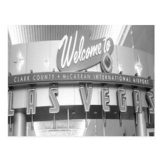 Dé la bienvenida a Las Vegas al vintage Postales