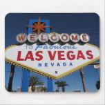Dé la bienvenida a Las Vegas fabuloso Mousepad Tapete De Ratón