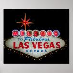 Dé la bienvenida a Las Vegas fabuloso Nevada Poster