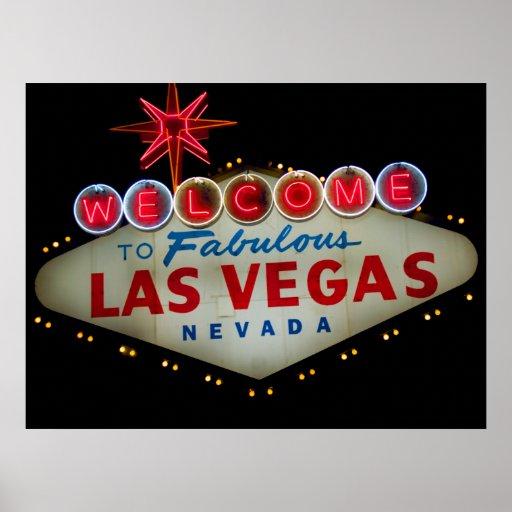 Dé la bienvenida a Las Vegas fabuloso Nevada Impresiones