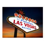 Dé la bienvenida a Las Vegas fabuloso Nevada Tarjeta Postal