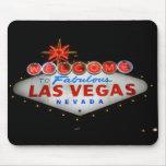 Dé la bienvenida a Las Vegas Mousepad (la noche) Tapetes De Raton