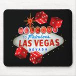 Dé la bienvenida a Las Vegas Mousepad Tapete De Ratones