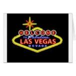 Dé la bienvenida a Las Vegas Notecard Tarjeton