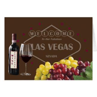 Dé la bienvenida a nuestro festival de vino tarjeta de felicitación