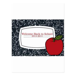 Dé la bienvenida de nuevo a la escuela 2013 tarjeta postal