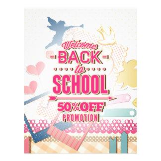Dé la bienvenida de nuevo a la escuela el 50% de tarjetones