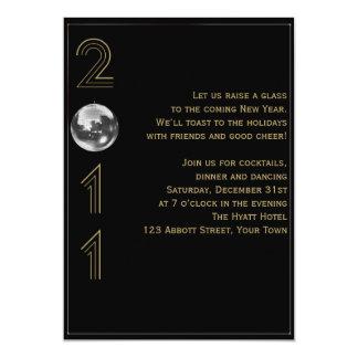 De la bola Noche Vieja del descenso 2011 Invitación 12,7 X 17,8 Cm