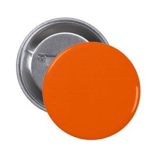 ~ de la CALABAZA (color anaranjado sólido, tipos y Pin Redondo De 2 Pulgadas