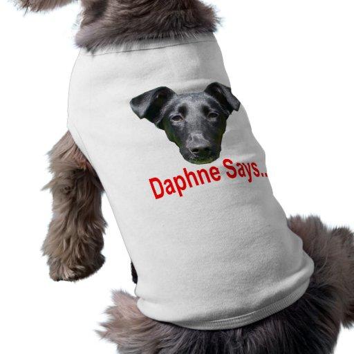 ~ de la camiseta del logotipo del mascota playera sin mangas para perro