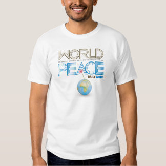 "De la ""camiseta DIARIA paz de mundo"" de WORD® Playeras"