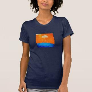 "De la ""camiseta nube de la lluvia"" de las mujeres camiseta"