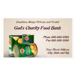 De la caridad del banco de alimentos tarjeta de vi tarjetas personales