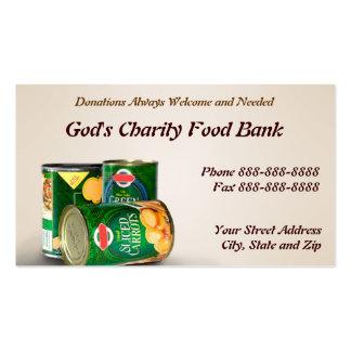 De la caridad del banco de alimentos tarjeta de vi