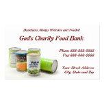 De la caridad del banco de alimentos tarjeta de vi plantillas de tarjeta de negocio