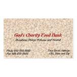 De la caridad del banco de alimentos tarjeta de vi plantilla de tarjeta de visita