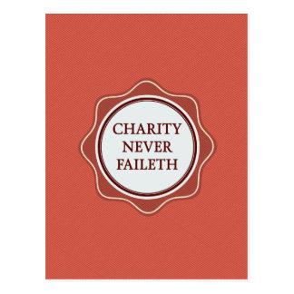 De la caridad diseño inspirado de Faileth nunca Tarjetas Postales