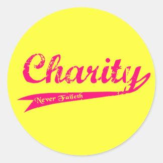 De la caridad sociedad del alivio de Faileth LDS Etiquetas Redondas
