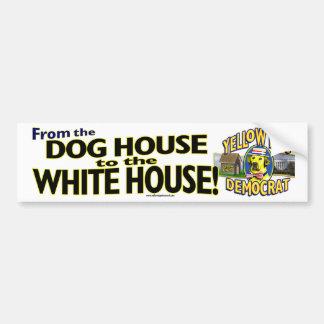 De la casa de perro a la Casa Blanca Pegatina Para Auto