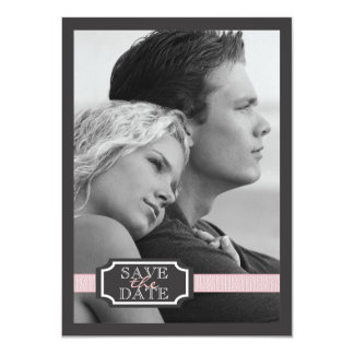 De la cinta del efecto reserva elegante del rosa invitación personalizada