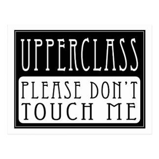 De la clase alta - no me toque por favor postales