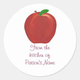 De la cocina de, Apple atasc a los pegatinas de la Pegatina Redonda