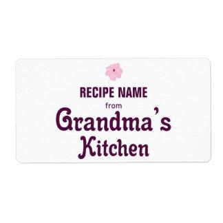 De la cocina de la abuela etiqueta de envío