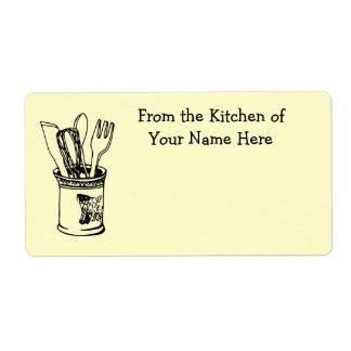 De la cocina de la comida que cocina la etiqueta etiquetas de envío