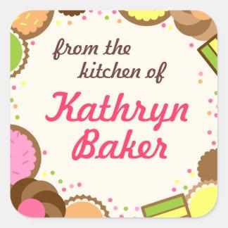 De la cocina de la etiqueta conocida, galletas