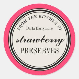 De la cocina de la etiqueta cotos de fresa