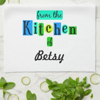 De la cocina de la toalla de cocina retra de