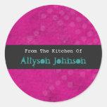 De la cocina de los pegatinas rosados del fondo