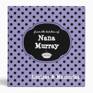 """De la cocina de Nana 1,5"""" receta del lunar Carpeta 1 1/2"""""""