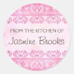 De la cocina de pegatinas, damasco rosado del vint