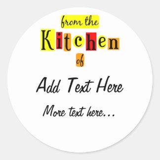 De la cocina de pegatinas de encargo retros