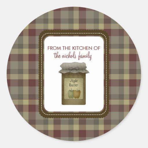 De la cocina de pegatinas pegatina redonda