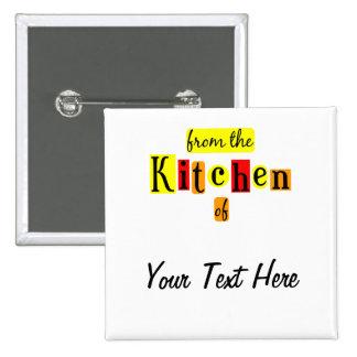 De la cocina de Pinback de encargo retro