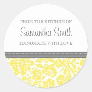 De la cocina del damasco del limón del pegatina