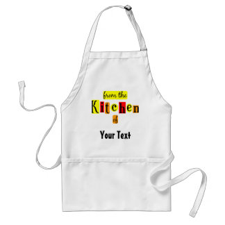 De la cocina del delantal de encargo retro