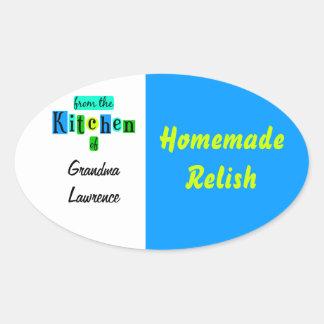 De la cocina del verde azul Twotone retro Pegatina