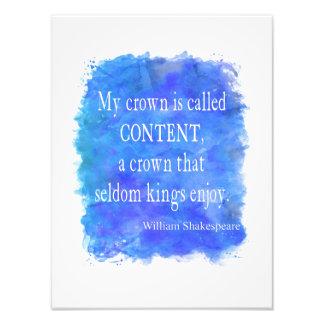 De la corona del contenido reyes Enjoy Shakespeare Fotografía