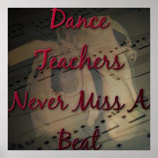 De la danza de los profesores Srta. nunca un golpe Póster