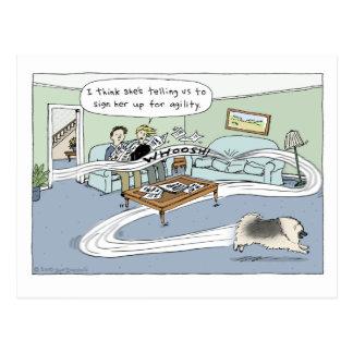 """De la """"dibujo animado agilidad de la sala de tarjetas postales"""