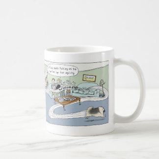 """De la """"dibujo animado agilidad de la sala de taza de café"""