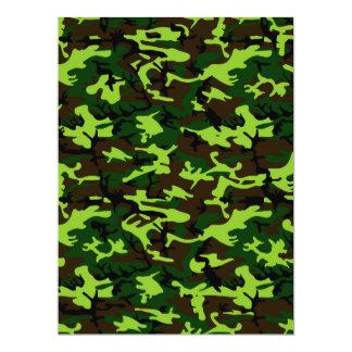 """~ de la élite del camuflaje (verde de la selva del invitación 6.5"""" x 8.75"""""""
