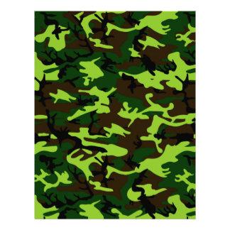 ~ de la élite del camuflaje (verde de la selva del plantilla de membrete