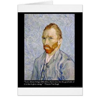 De la energía de Van Gogh coleccionable del regalo Felicitación